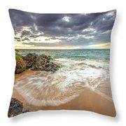 Wailea Sunset From Maui Throw Pillow