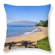 Wailea, Ulua Beach Throw Pillow