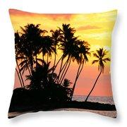 Wailua Bay, View Throw Pillow