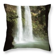 Wailua Falls 3 Throw Pillow