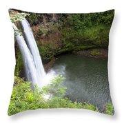 Wailua Falls, Kauai Throw Pillow