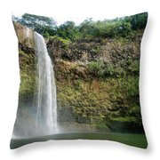 Wailua Falls0 919 Throw Pillow