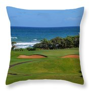 Wailua Golf Course - Hole 17 - 1 Throw Pillow