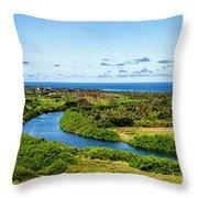 Wailua River Throw Pillow