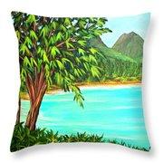 Waimanalo Beach Oahu #385 Throw Pillow