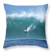 Waimea Bay Boomer Throw Pillow by Kevin Smith