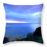 Waimea Bay Evening Throw Pillow