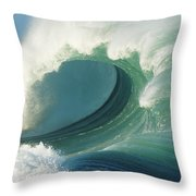 Waimea Bay Shorebreak Throw Pillow
