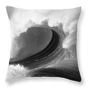 Waimea Bay Wave - Bw Throw Pillow by Vince Cavataio - Printscapes
