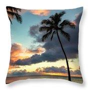 Waimea Beach Sunset 3 - Oahu Hawaii Throw Pillow