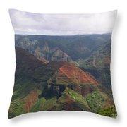 Waimea Canyon 2 Kauai Throw Pillow