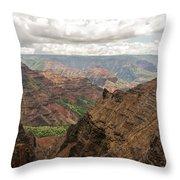 Waimea Canyon 4 Throw Pillow