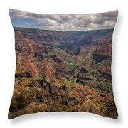 Waimea Canyon 7 - Kauai Hawaii Throw Pillow
