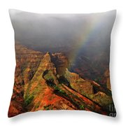 Waimea Canyon I Throw Pillow