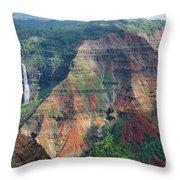 Waimea Canyon Kauai Throw Pillow