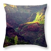 Waimea Canyon Throw Pillow