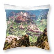 Waimea  Canyon Splendor,  Throw Pillow