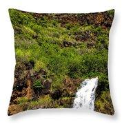 Waimea Falls  Throw Pillow