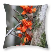 Waimea Flowers Throw Pillow