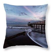 Waimea Pier Throw Pillow