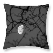 Waning Black And White Throw Pillow