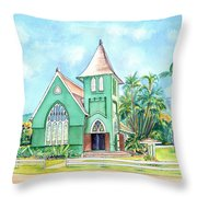 Wai'oli Hui'ia Church Throw Pillow