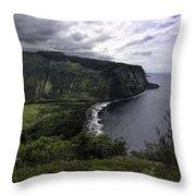 Waipio Bay Throw Pillow