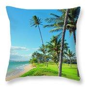 Waipuilani Beach Kihei Maui Hawaii Throw Pillow