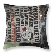 Wait Your Turn Throw Pillow