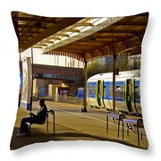 Waitin' For The Train Throw Pillow
