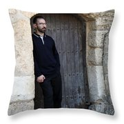 Waiting At The Door Throw Pillow
