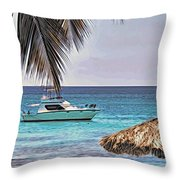 Waiting Boat Throw Pillow