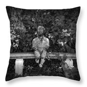 Waiting By The Garden Throw Pillow