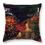 Waiting By The Path Throw Pillow