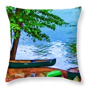 Waiting By The River Throw Pillow
