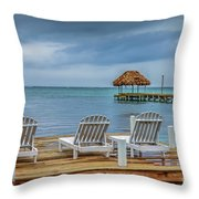 Waiting By The Sea Throw Pillow