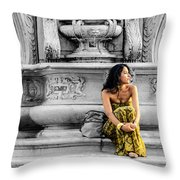 Waiting - Cesena - Italy  Throw Pillow