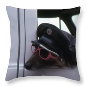 Waiting Dog  Throw Pillow