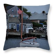 Waiting For A Captain Throw Pillow