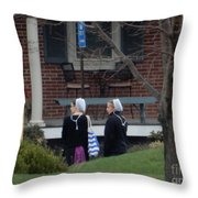 Waiting For A Friend Throw Pillow