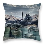 Waiting For A Mission Throw Pillow