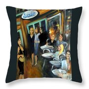 Waiting For A Table Throw Pillow