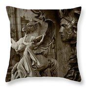 Waiting For Alexander - Heroes And Gods - Brown  Throw Pillow