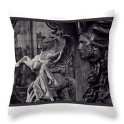 Waiting For Alexander - Heroes And Gods - Violet  Throw Pillow