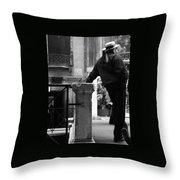 Waiting For Business Throw Pillow