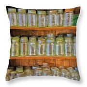 Waiting For Canning Time Throw Pillow
