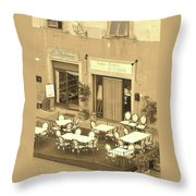 Waiting For Guests Throw Pillow