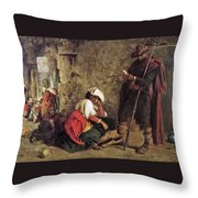Waiting For Hire Throw Pillow
