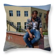 Waiting For Home Throw Pillow
