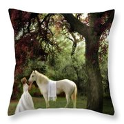 Waiting For My Prince Throw Pillow